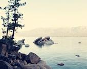Fine Art Photograph, Sand Harbor, Lake Tahoe Photo, Seascape, Tranquil, Lake, Teal, Calm, Trees, Peaceful, Vacation, Wall Art, 8x12 Print
