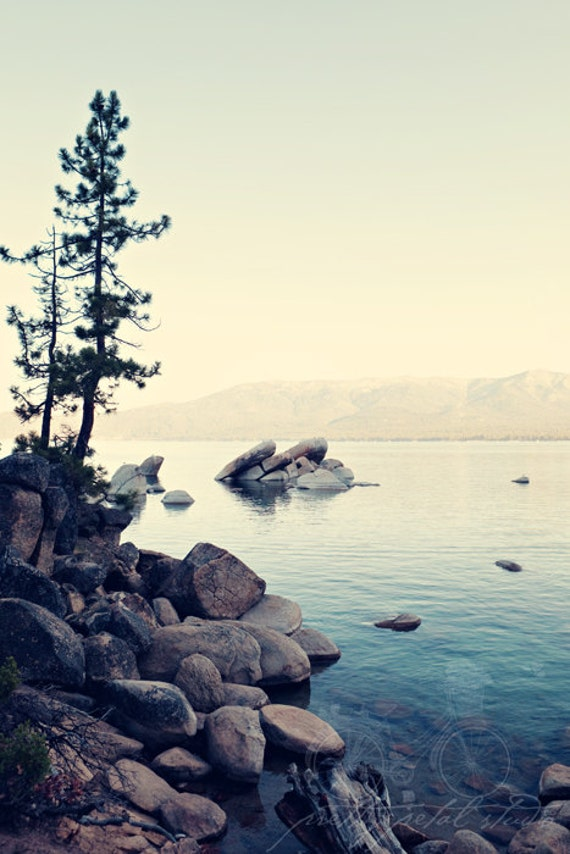 Fine Art Photograph, Sand Harbor, Lake Tahoe Photo, Seascape, Tranquil, Lake Art, Teal, Peaceful, Resort Art, Water, Zen Art, Lakeside