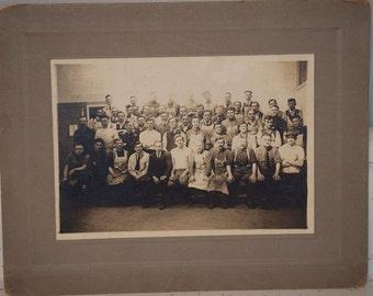 vintage group work photo