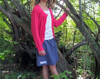 toddler girl skirts . . .  navy pin dot skirt 2 Toddler - 9 Youth By K Bella Bambino