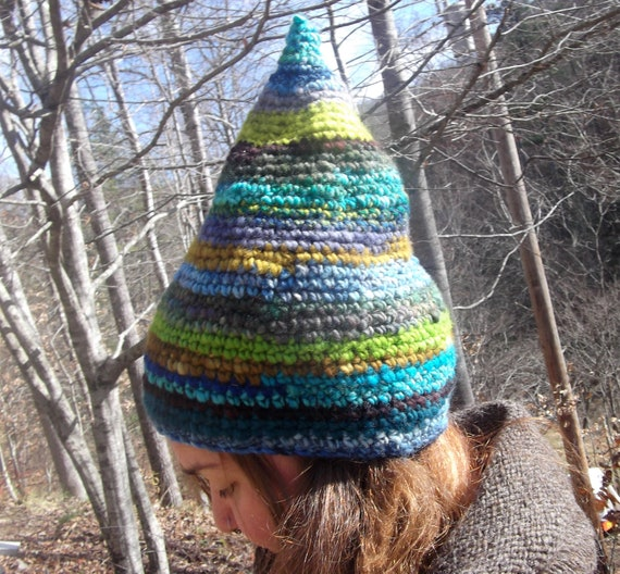 RESERVED BlUes aNd GrEeNs Whimsy Gnome Slouchy Hat RESERVED