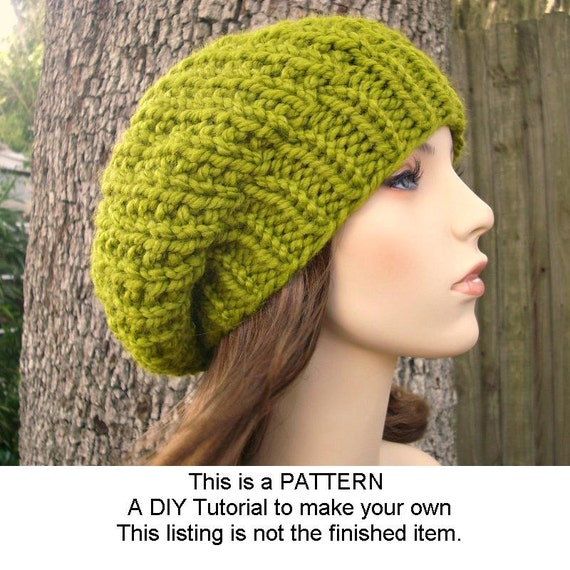 Instant Download Knitting Pattern - Womens Hat Pattern - Knit Hat Pattern for Soho Beret Pattern - Womens Hat - Womens Accessories