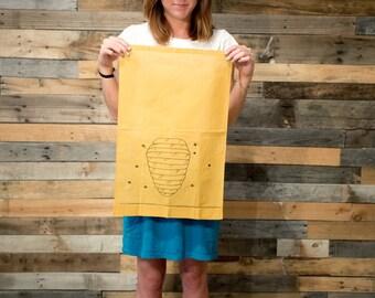 Linen Tea Towel Bee Home