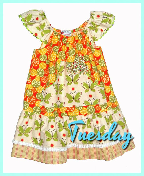 Instant Download The Tuesday Top and Dress PDF Sewing Pattern DIY Tutorial Little Bird Lane Size 1 to Size 6