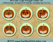 Instant Download - Printable Bottle Cap Images - Happy Jacks - Digital PDF and/or JPG File