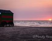 Sunset Print, De Panne, Belgium, 8x12 Photograph, Fine Art