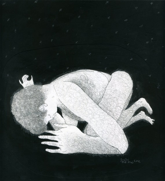 Dark & Quiet (original drawing, 2012)