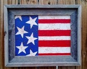United States of America Flag Rustic Painting