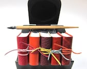 5 Mini Leather Journals in Red - Nicopapergoods
