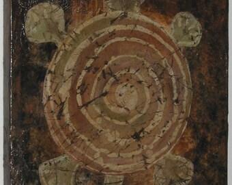 Turtle Batik - Mixed Media Original