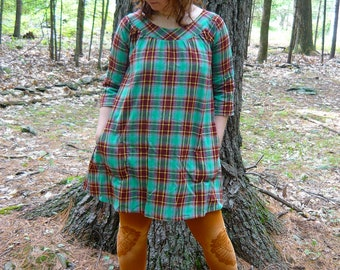 long sleeve smock dress -- made to order