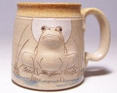 Bull Frog Pottery Coffee Mug (left hand view)  Limited Series 188 (microwave safe) 12oz