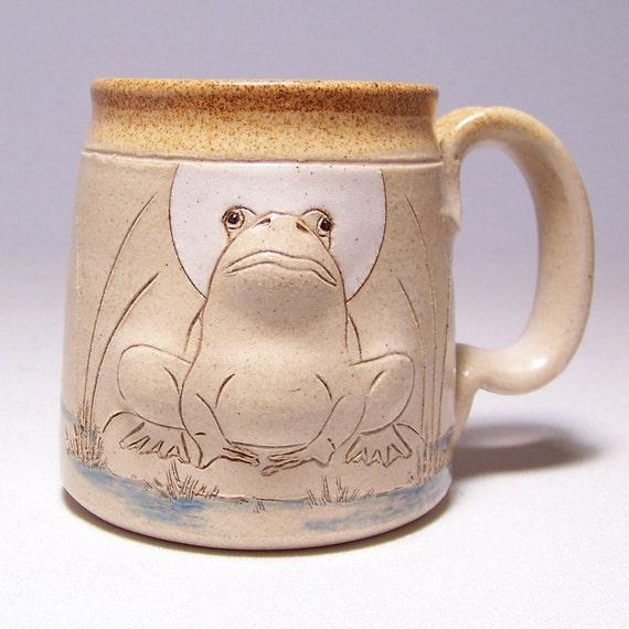 Bull Frog Pottery Coffee Mug (left hand view)  Limited Series 188 (microwave safe) 12oz