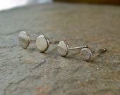 Small Silver Stud Earrings, Sterling Silver Stud Silver Dot Studs, Little Silver Studs Post Earrings Stud Earings Round Silver Stud