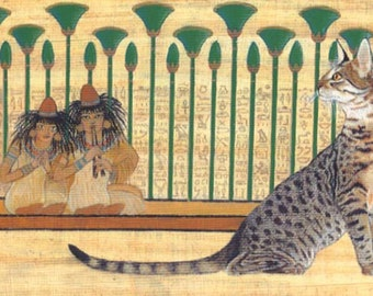 egyptian mau cat art open edition print