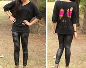 Black Skull Cut-Out Dolman - XS