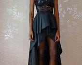 Black Sequin Two Piece Dress Gown