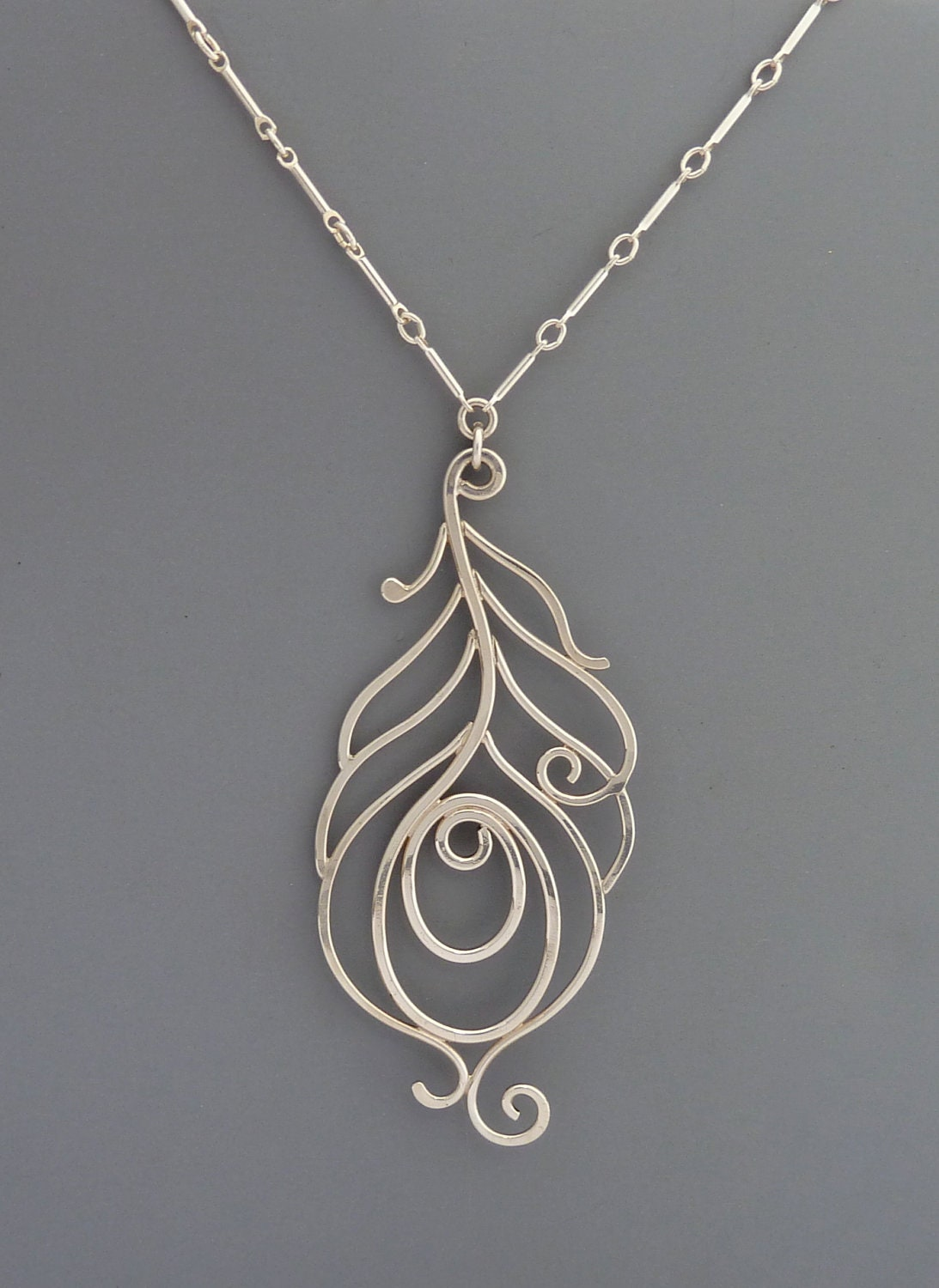 sterling silver handmade peacock necklace rachel wilder