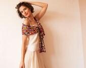 Bridal Crochet Scarf / Belt - Multicolor, Women's - subrosa123