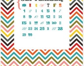 2016 Desk Calendar 5x7 bright, bold, fun (PRINTABLE, PDF, instant download)
