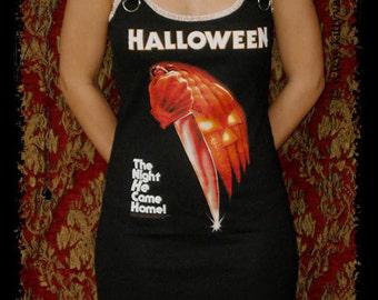 Halloween shirt Horror Movie dress gothic clothing alternative apparel dark style altered tee t-shirt michael myers creepy clothes pumpkin