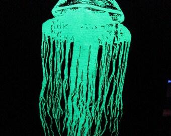 Glow in the Dark Jellyfish Hoodie Unisex Size S M L XL 2XL