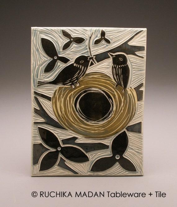 Nestbuilders- 6x8 ceramic tile- Ruchika Madan