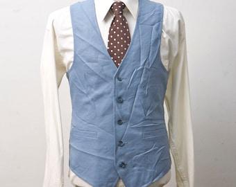 Size 40 Vintage Blue Vest