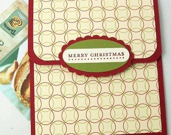 Christmas Gift Card Holder - Holiday Tip Envelopes - Christmas Money Cards - Christmas Money Envelopes - Christmas Bonus Envelopes