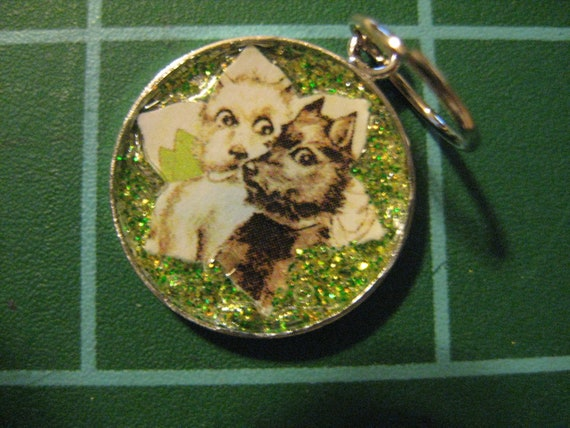 100% Charity Item: West Highland White and Scottish Terrier Sparkling Pendant