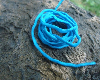 1 Strand of Teal Hand Dyed Silk Cording