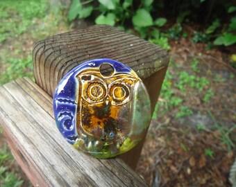 Owl Stoneware Pendant