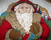 Vintage sewing Stuffed Santa Claus Holiday Fabric, Retro style  Kris Kringle, Father Christmas, Holiday Arts & Crafts X-Mas Nostalgia