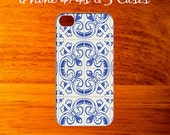 iPhone Case..Ceramic Blue & White Tile Pattern