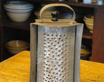Antique Tin Box Grater Strap Handle