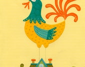 Arthur the Rooster Print 8.5 x 11