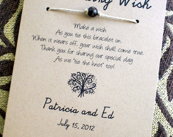 The Love Tree - A Wedding Wish - Wish Bracelet Wedding Favor Custom Made for You