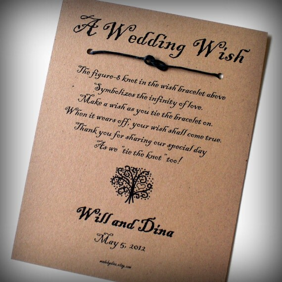 The Love Tree A Wedding Wish Infinity Knot Wish Bracelet