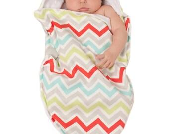 Chevron Baby Noonie blanket