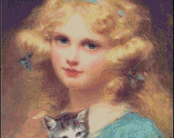 PORTRAIT Of A YOUNG GIRL cross stitch pattern No.172