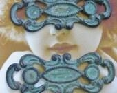 Verdigris Patina Art Nouveau Brass Connectors 803VER x2