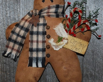 EPATTERN -- Gingerbread Man Wall Hanging Door Greeter