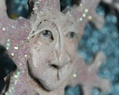 Old Man Winter Paper Clay Snowflake Ornament