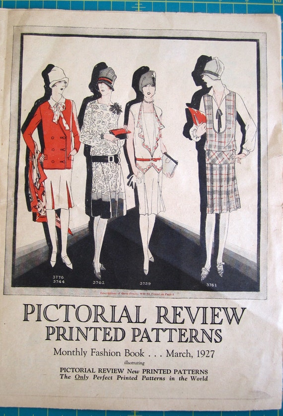 Vintage Sewing Pattern Catalog Booklet Ladies Home Journal March 1927