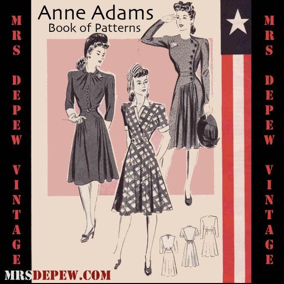 Vintage Sewing Pattern Catalog Anne Adams Mail Order 1940's War Effort Digital Copy -INSTANT DOWNLOAD-