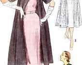 Womens Long Coat Jacket Sleeveless Duster Opera Coat Evening Coat 1950s Vintage Sewing Pattern Simplicity 3573 Bust 34