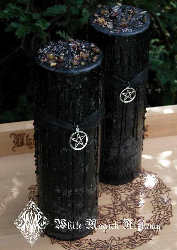 Witches Magick Alchemy Pillar 3x9