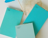 Mini Paint Chip Notebooks- Swimming Pool Blues