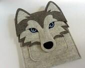 Siberian husky iPad pro felt case