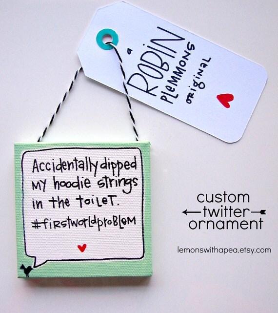Custom Twitter Christmas Ornament